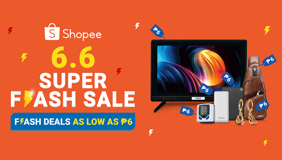 Grab These Amazing Products for Only ₱6 at the Shopee 6.6 Super Flash Sale!