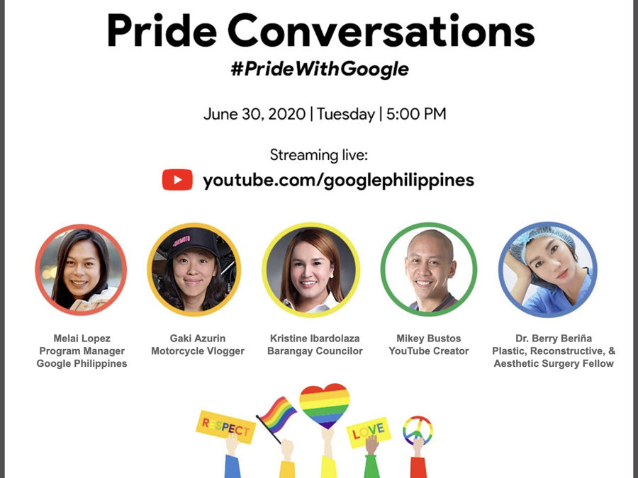 Google Philippines To Hold Pride Conversations Online Event on YouTube to Honor the LGBTQ+ Community