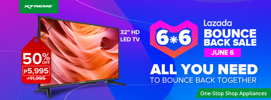 XTREME Appliances Joins Lazada's 6.6 Bounce Back Sale, Summer Promo Extended!