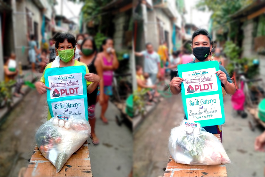 PLDT partners with PBSP to Provide Food Packs and Vitamins to Families in Malabon and Cebu