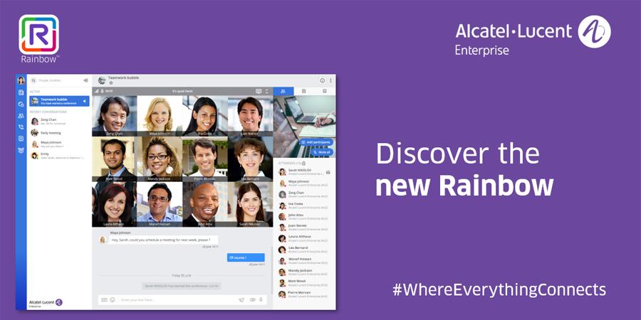 Alcatel-Lucent Enterprise Collaboration Platform – Rainbow –   Takes on a New Dimension