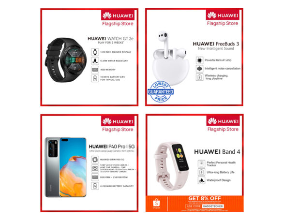 Huawei devices on sale on Huawei Brand day at Shopee