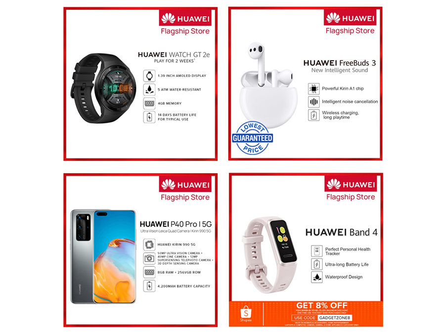 Hot on July 27 on Shopee – Get up to 40% off on these Huawei phones and accessories