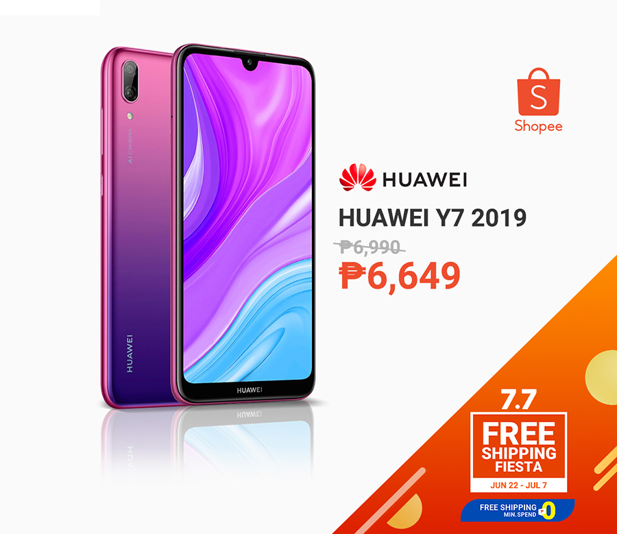 Huawei Y7 2019 for less than P10k at Shopee 7.7 sale
