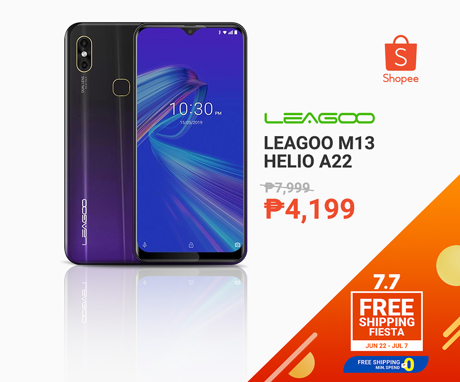 Leagoo M13 Helio A22 for less than P10k at Shopee 7.7 sale