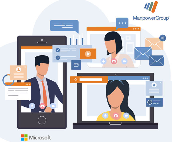 ManpowerGroup quickly adapted a 'work-from-home' model. Regular hiring which usually requires face-to-face interactions are now done online.