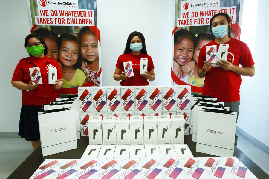 OPPO Donates Brand New Phones and Earphones  to Save the Children