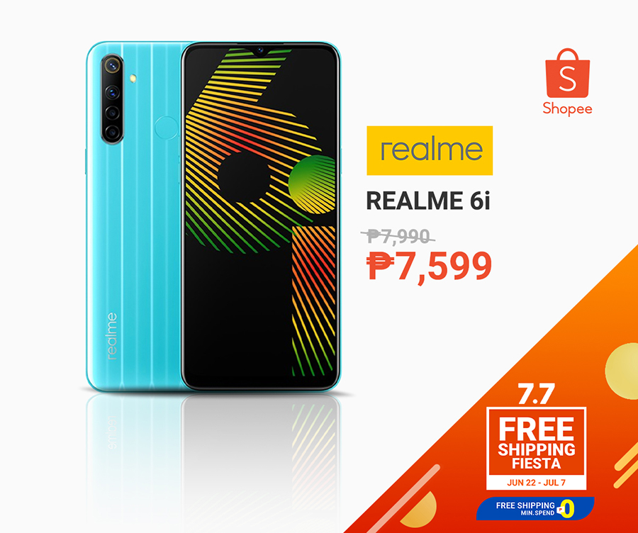 realme 6i for less than P10k at Shopee 7.7 sale