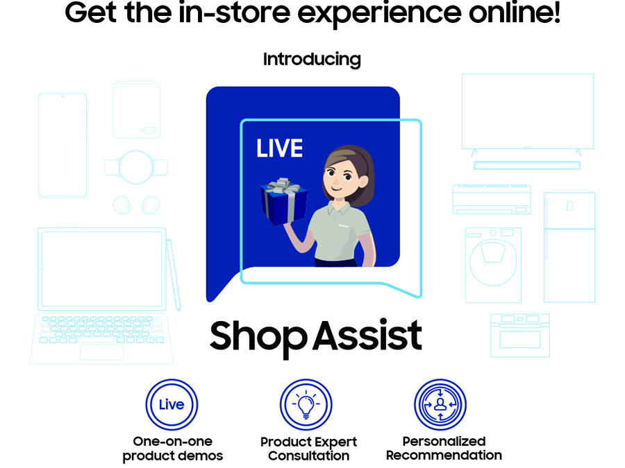 SAMSUNG Officially Launches Live Shop Assist Online