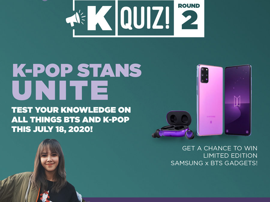Get a chance to win the Samsung Galaxy S20+ BTS Edition and more at the Smart's K-Quiz Night on July 18