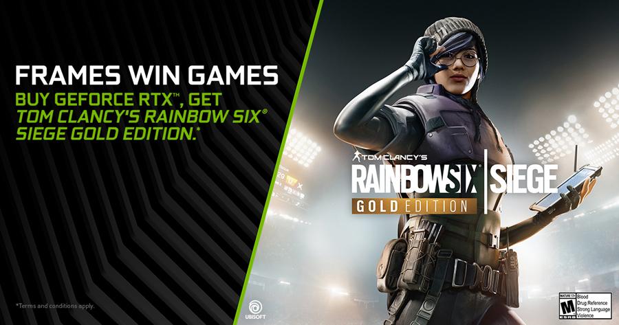 Mega-Hit 'Tom Clancy's Rainbow Six Siege' bundled with GeForce RTX GPUs!