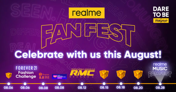 Paint the Town Yellow! August Is Realme Fan Fest Month