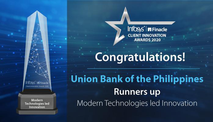UnionBank's API Developer Portal Recognized at Infosys Finacle Client Innovation Awards 2020