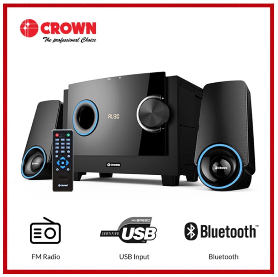 Buy the Crown HM-3401L 2.1 Channel Home Theater System on Shopee for only P2,061 (that's 10% off from the original SRP of P2,290).