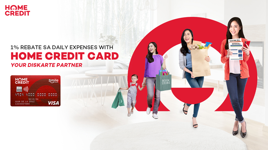 Get 1% Rebate on Every Purchase With the Bigger, Better, and Mas 'Madiskarteng' Home Credit Card