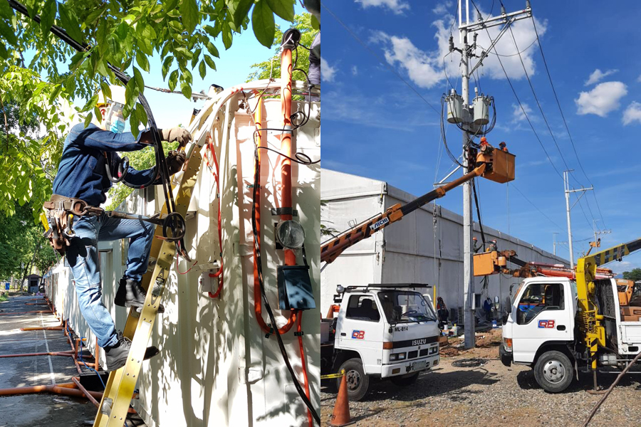 Meralco Network Service Upgrade – We Heal as One Center and LSI Shelter