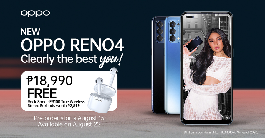 OPPO Officially Launches The Newest OPPO Reno4 With Careless Music Manila For A #ClearlyTheBestYou