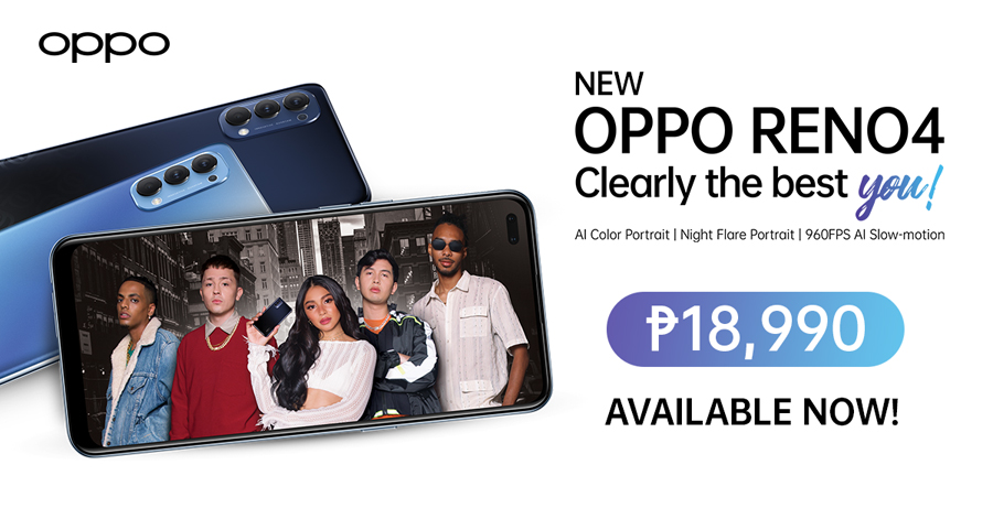 The Newest OPPO Reno4 Officially Available Starting August 22