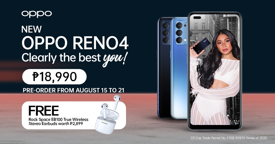The Newest OPPO Reno4 Now Available  For Pre-Order Until August 21