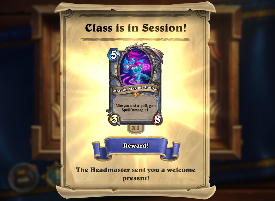 Starting today, players will receive a random Scholomance Academy Legendary class card just for logging in, and can complete a chain of Legendary Quests to earn a total of six Scholomance Academy card packs!
