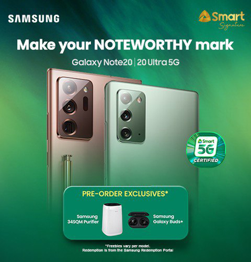 Smart Opens Pre-Orders for the Smart 5G-Certified Samsung Note20 Series