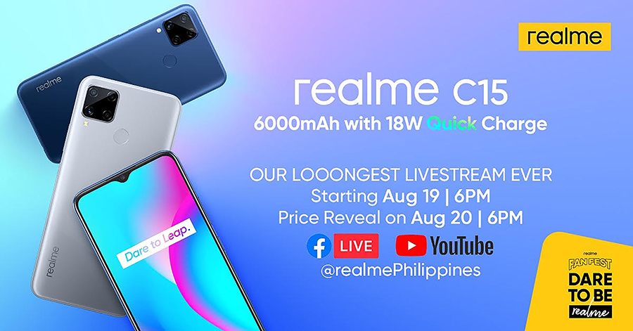 realme Philippines to launch 6000mAh, 18W Quick Charge realme C15 on August 20