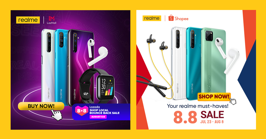 Realme Kicks off Fan Fest Month With up to 34% Discount at Shopee, Lazada 8.8 Sales