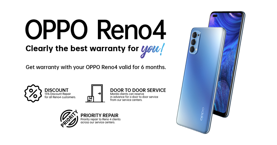 The New OPPO Reno 4 Comes with Clearly the Best Warranty for You