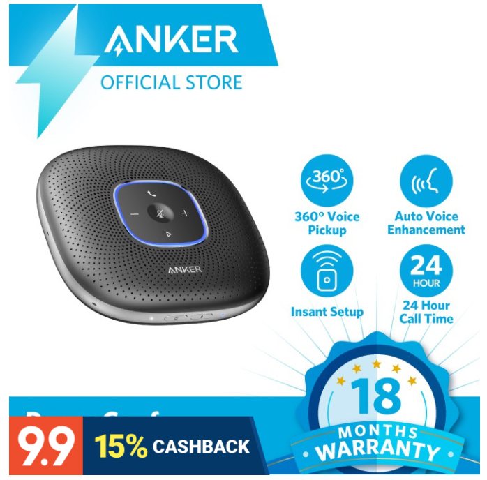Buy the Anker PowerConf Bluetooth Speakerphone on Shopee for only P6,795.