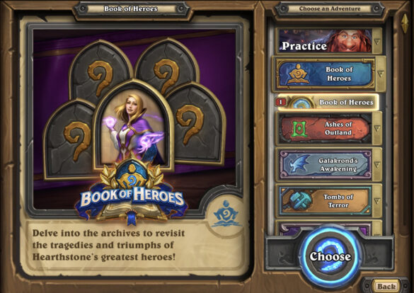 Hearthstone's Newest Solo Adventure, Book of Heroes Is Now Live! Explore the Story of the Well-Known Mage, Jaina Proudmoore