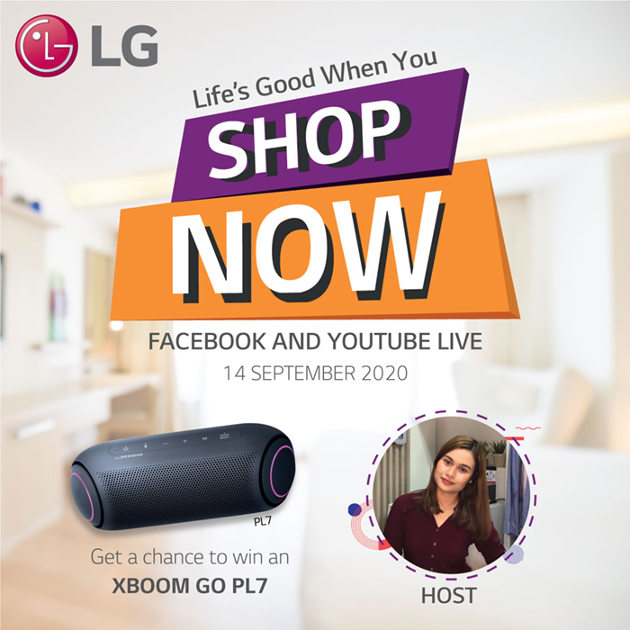 Join LG as they gold their very first Facebook Live event on September 14. Get a chance to win a brand new LG XBoom Go PL7.