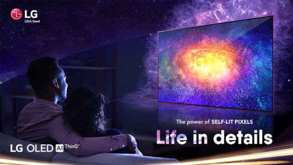 LG OLED screen technology uses self-lit pixels, that works independently to emit their own light. This allows for perfect black levels, outstanding colors, infinite contrast, and the sharpest details