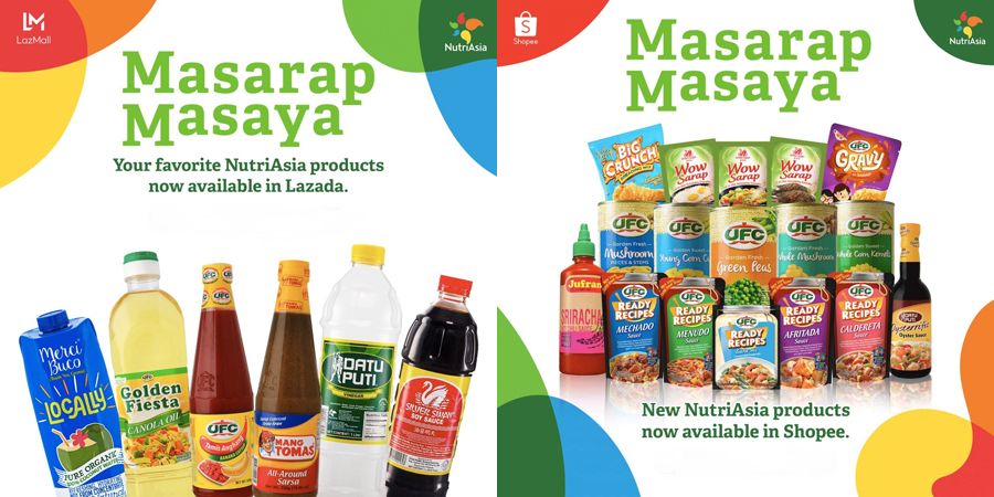 Shop for Your Favorite NutriAsia Products Safely From Home via Shopee and Lazada!