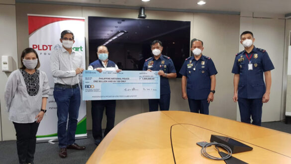 PLDT-Smart Foundation Tops up Educational Grant for PNP Dependents