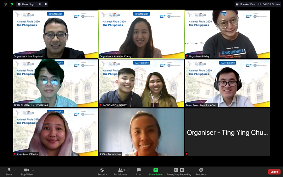 ASEAN Data Science Explorers Hosts its First Virtual National Finals and Announces Team  Incognito as Winner to Represent THE PHILIPPINES