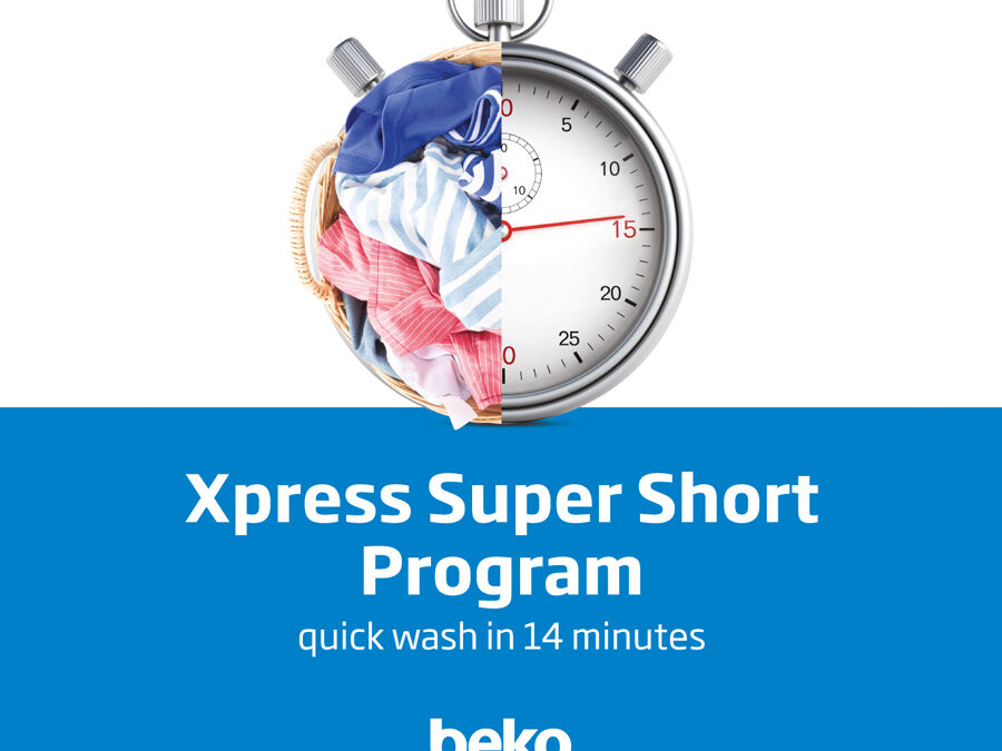 Quick, easy, and clean laundry day with Beko