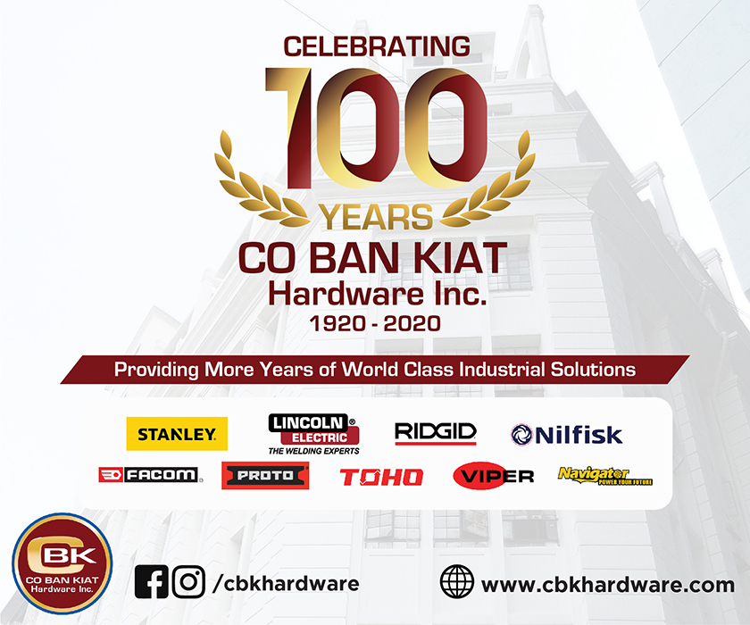 Co Ban Kiat Hardware Inc. is the preferred and trusted distributor of home improvement and hardware products in the Philippines. With its wide range of products from 68 global hardware brands and more than 2000 distribution channels, CBK Hardware is committed to provide more years of world class hardware solutions to Filipino homes and several industries.
