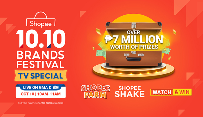 Catch the Shopee 10.10 Brands Festival TV Special on GMA and Win a Total of ₱7 Million Worth of Prizes