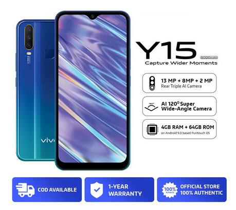 Get the vivo Y15 on Shopee