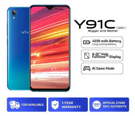 Get the vivo Y91C on Shopee