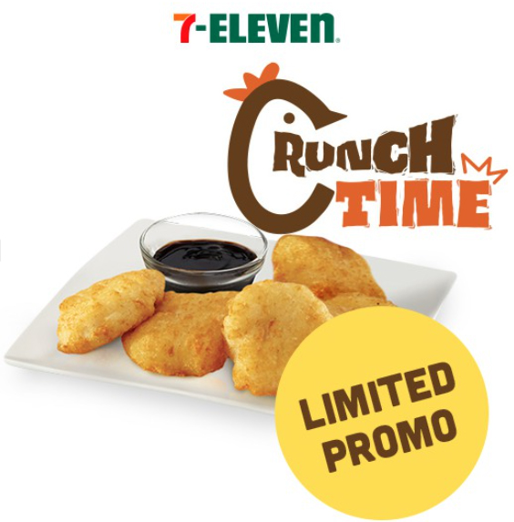 Order the 7-Eleven Crunch Time Chicken Nuggets Ala Carte (5 pcs) on Shopee