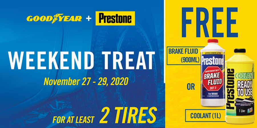 A Merry Safe Christmas Journey Using Authentic and High-Quality product from Prestone and Goodyear
