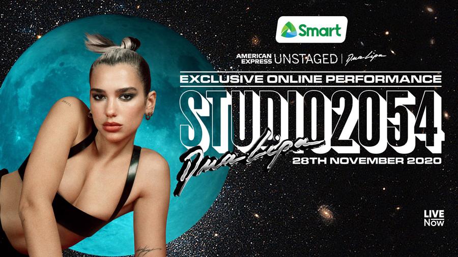 "Smart brings Dua Lipa's ""Studio 2054"" live virtual concert to Filipinos on Nov. 28"