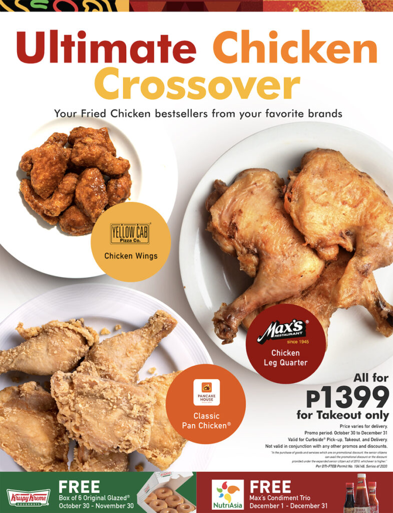 Why Did the Chicken Cross the Road? To Get the Ultimate Chicken Crossover From Max's, Pancake House, and Yellow Cab!