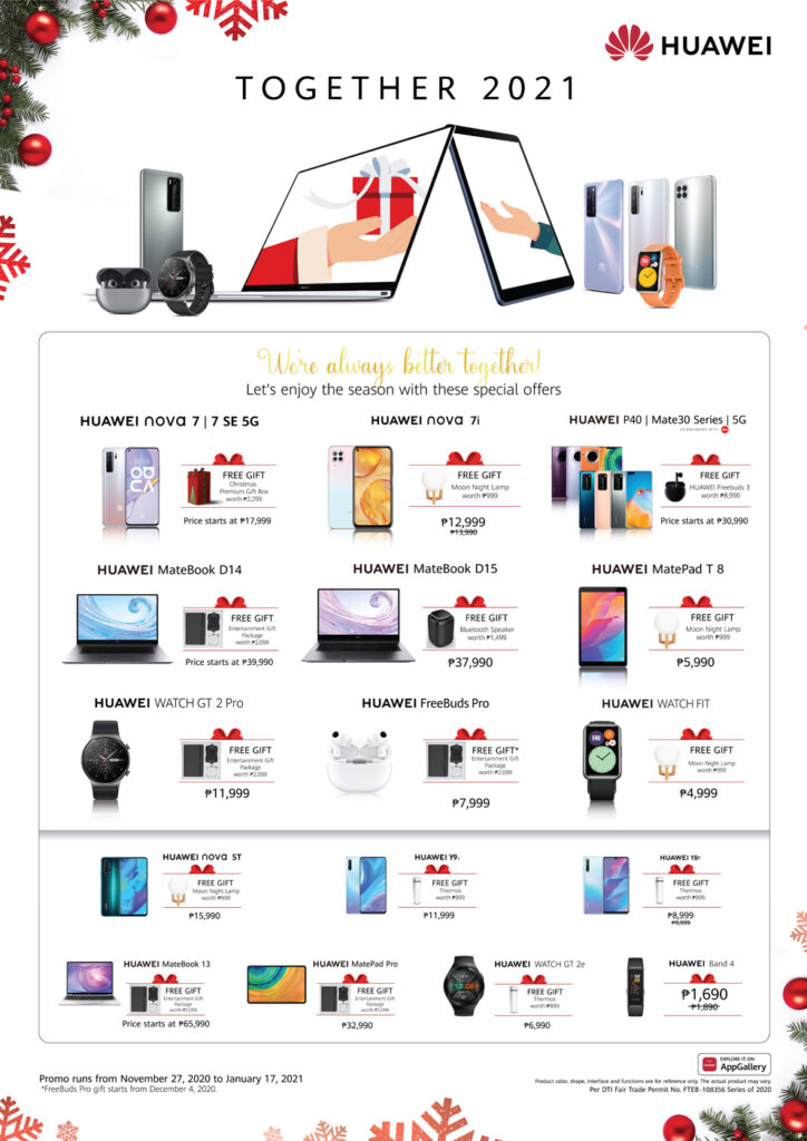 The Most Wonderful Time of the Year is made even Brighter with HUAWEI's Together 2021 Christmas Promo