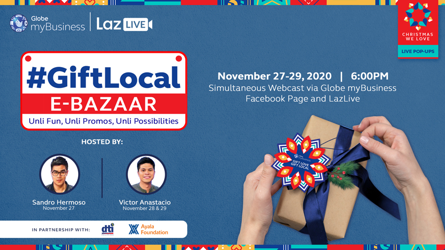Shop for a Cause This Christmas at Globe myBusiness Gift Local E-Bazaar