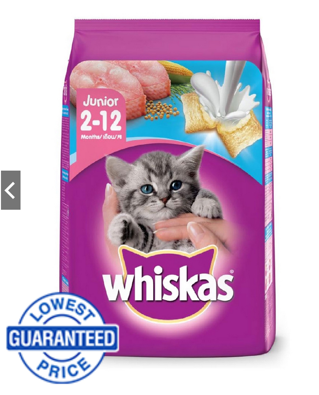 Buy Whiskas Junior Ocean Fish Flavor with Milk Dry Cat Food (450g) on Shopee