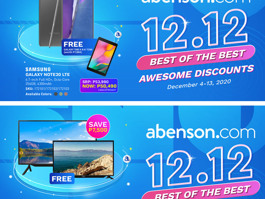 Holiday shopping just got better with Abenson 12.12 Awesome Deals