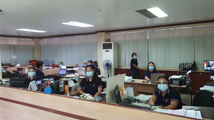 Employees of TCTS observe healthy and safety protocols to ease spread of COVID-19.
