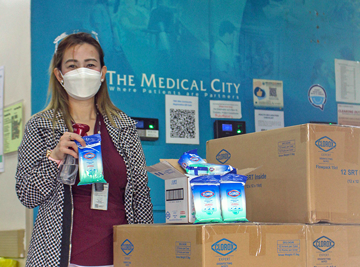 Clorox donates 1,000 Clorox Wipes to five hospitals